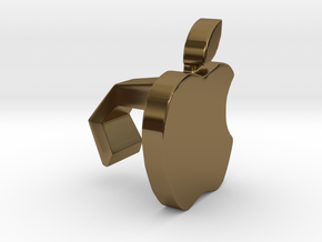 iMac Camera Cover - Apple in Polished Bronze