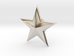 SSM-STAR-BASICloft 1.00 in Rhodium Plated Brass