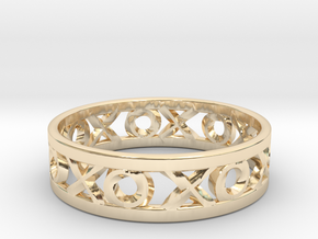 Size 10 Xoxo Ring in 14K Yellow Gold