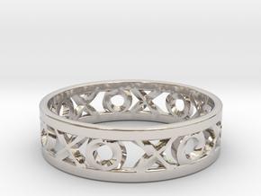 Size 11 Xoxo Ring in Platinum