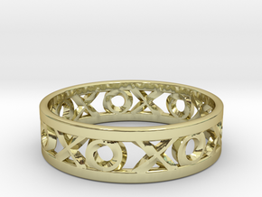 Size 11 Xoxo Ring in 18k Gold Plated Brass