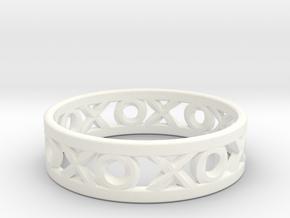 Size 12 Xoxo Ring in White Processed Versatile Plastic
