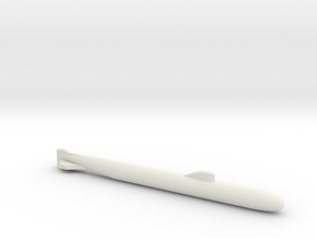 November-Class SSN, Full Hull w/o Sonar, 1/1800 in White Natural Versatile Plastic