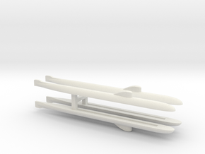 November-Class SSN x 4, 1/1800 in White Natural Versatile Plastic