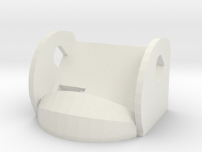 45º FPV Camera Mount in White Natural Versatile Plastic