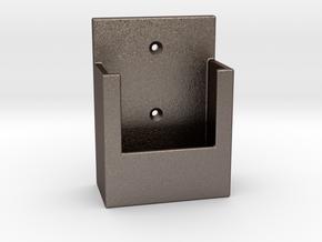 Remoteholderv2 in Polished Bronzed Silver Steel