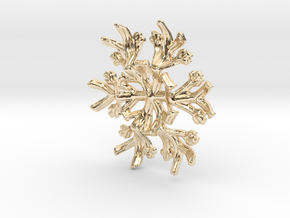 Snowflake Candle Stand 1 - d=60mm in 14K Yellow Gold