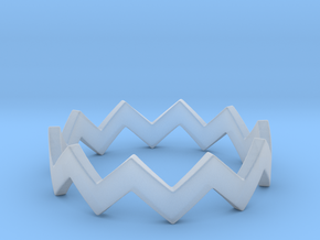 Zig Zag Wave Stackable Ring Size 6 in Smooth Fine Detail Plastic