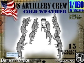 1-160 US Artillery Crew Cold Weather in Frosted Ultra Detail