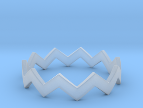 Zig Zag Wave Stackable Ring Size 9 in Smooth Fine Detail Plastic