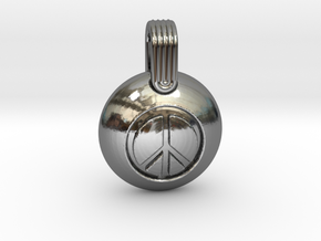 Peace in Fine Detail Polished Silver