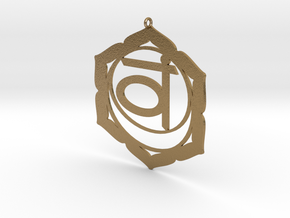 Sacral Chakra Necklace in Polished Gold Steel