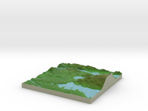 Terrafab generated model Fri Oct 23 2015 12:47:29  in Full Color Sandstone