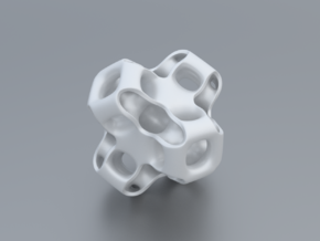Gyroid Figure in White Processed Versatile Plastic