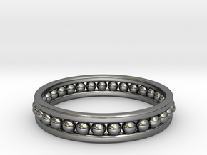 Beaded Ring in Premium Silver