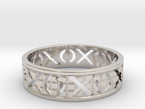 Size 6 Xoxo Ring A in Rhodium Plated