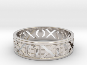 Size 8 Xoxo Ring A in Platinum