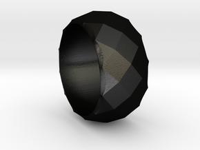 CODE: P12 - RING SIZE 7 in Matte Black Steel