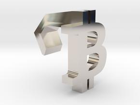 iMac Camera Cover - Bitcoin Logo in Rhodium Plated Brass