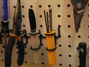 Pegboard Tool Holder in Yellow Processed Versatile Plastic