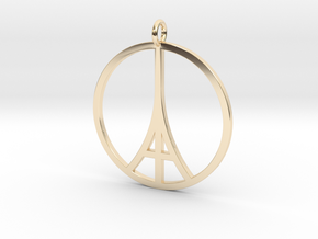 Paris Peace Pendant in 14K Yellow Gold