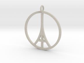 Paris Peace Pendant in Natural Sandstone