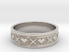 Size 10 Xoxo Ring B in Platinum