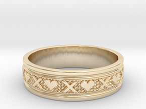Size 10 Xoxo Ring B in 14k Gold Plated Brass