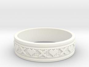 Size 11 Xoxo Ring B in White Processed Versatile Plastic