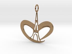 Love Paris - Eiffel Tower in Natural Brass
