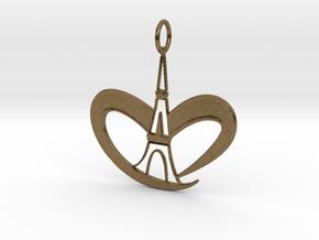 Love Paris - Eiffel Tower in Natural Bronze