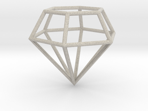 Diamond Frame Pendant in Natural Sandstone