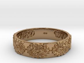 Vangaurd 2B 8.5 Ring Size 8.5 in Polished Brass