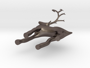 christmas deer ornament  in Stainless Steel