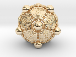 Nucleus D20 in 14K Yellow Gold