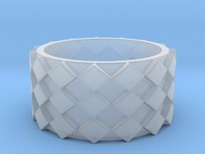 Futuristic Diamond Ring Size 6 in Smooth Fine Detail Plastic