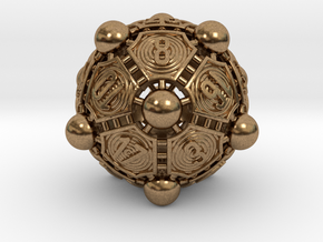 Nucleus D20 in Natural Brass