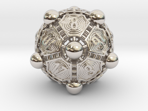 Nucleus D20 in Rhodium Plated Brass
