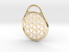 DRAW pendant - waves H in 14k Gold Plated Brass