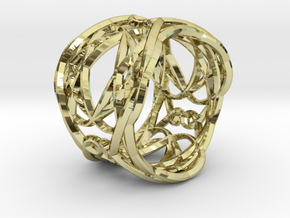 Ring Elegance - for royalty in 18k Gold Plated Brass