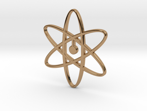 Atom Pendant in Polished Brass