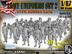 1-87 Army Modern Uniforms Set2 in Smooth Fine Detail Plastic