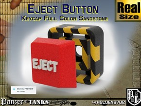 Full Color Button of EJECT in Full Color Sandstone