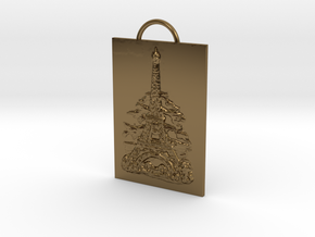 Eiffel Tower - Paris, France - Solidarity Pendant in Polished Bronze