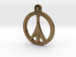 Paris Peace in Polished Bronze