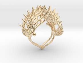 Ring The Iroquois\ knuckle / size 6 US    (16,5 mm in 14k Gold Plated Brass