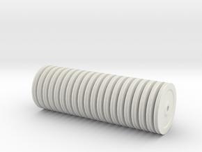 TEREX DEMAG Cc8800 Nylon Sheaves Set in White Natural Versatile Plastic