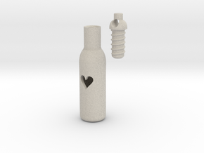 Message In A Bottle -Open Heart Version in Natural Sandstone