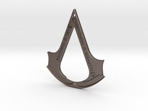 Assassin's creed logo-bottle opener (with hole) in Polished Bronzed Silver Steel
