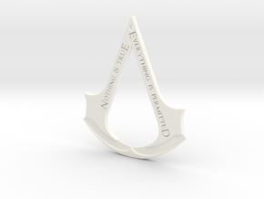 Assassin's creed logo-bottle opener (with hole) in White Processed Versatile Plastic